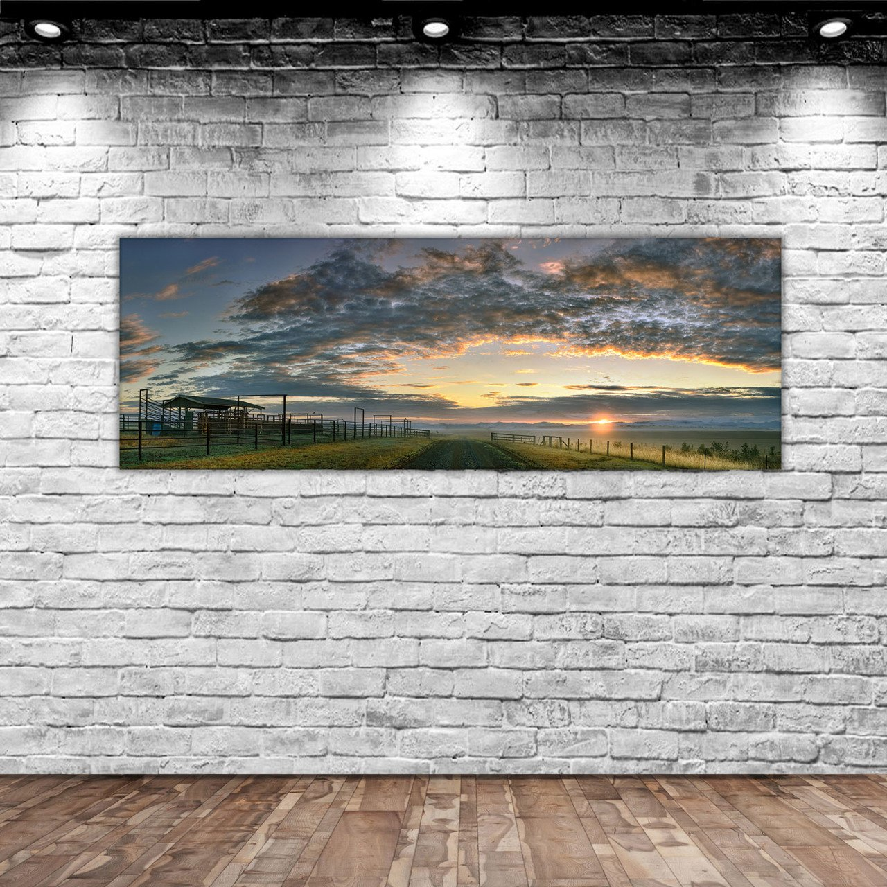 BK Home Landscape Panorama Canvas Table 100x35cm-4 Modern Convenient Reliable Decoration Gift Quality Design Simple Vicinity
