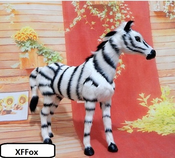 new real life zebra model plastic&furs cute zebra doll home decoration gift about 30x24cm xf2191