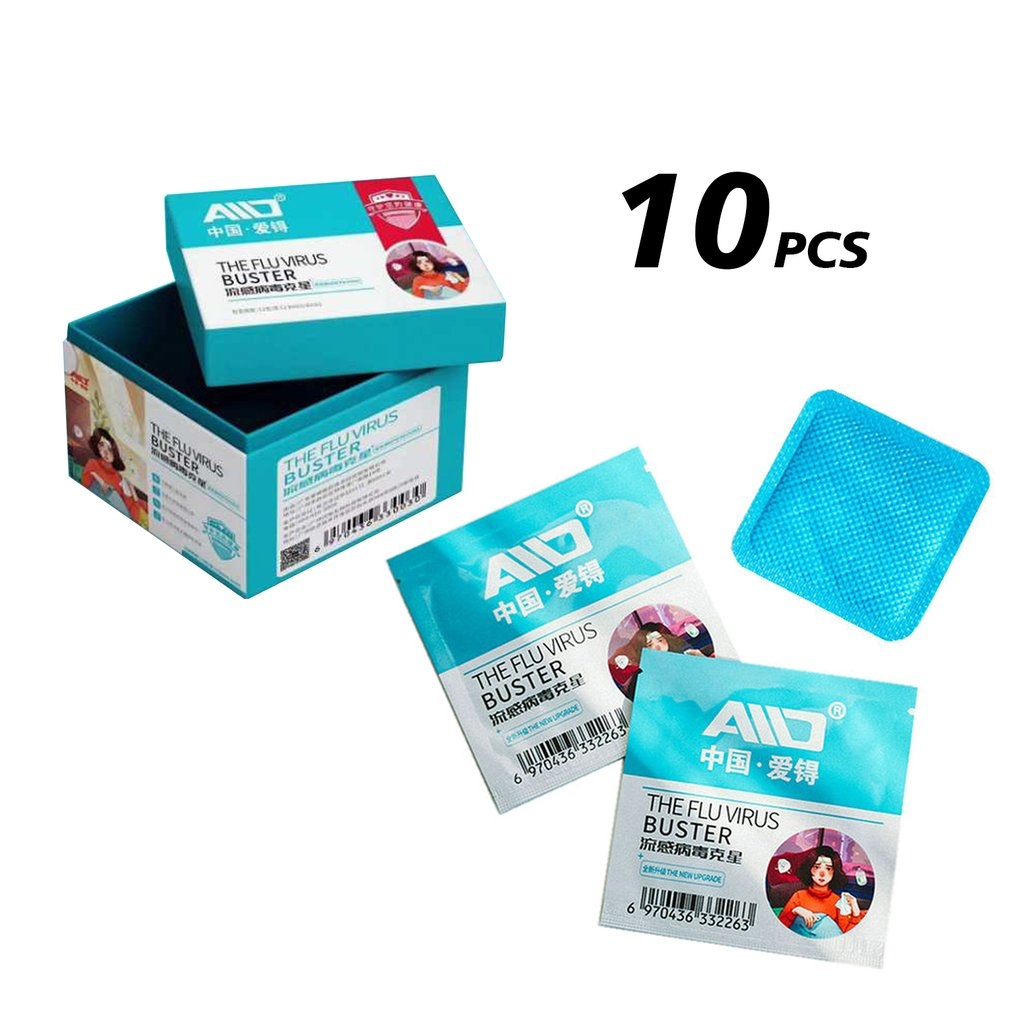 10pcs Anti-flu Anti-virus Chlorine Dioxide Sterilization Card Disinfection Paste Chlorine Dioxide Sterilization Card