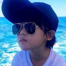 Retro Children Aviation Sunglasses UV400 Gold Frame Glasses