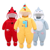 Newborn Romper Autumn Winter Baby Jumpsuit Thick Warm Toddler Baby Girl Boy Clothes For 3m 12m Cartoon Boy Jumpsuit Clothing