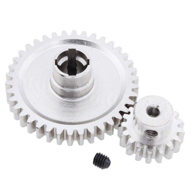 2 pièces en métal WLtoys A959 Diff en acier engrenage principal 38T et moteur pignon engrenage 17T pour 1/18 Buggy électrique Vortex