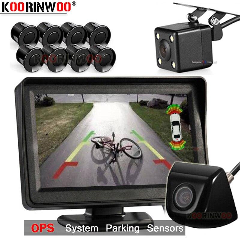 Koorinwoo Parktronic ekran systemu wideo z czujnik parkowania samochodu z kamerą tylny asystent parkowania wykrywanie radaru martwego punktu