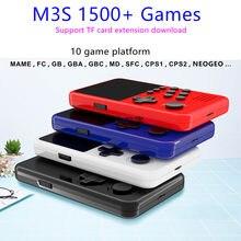 M3S Mini Handheld Spiel Spieler Gebaut-in 1500 + Spiele 16 Bit Retro Smart Video Spielkonsole Mit 4G TF Karte Für Kinder Geschenk