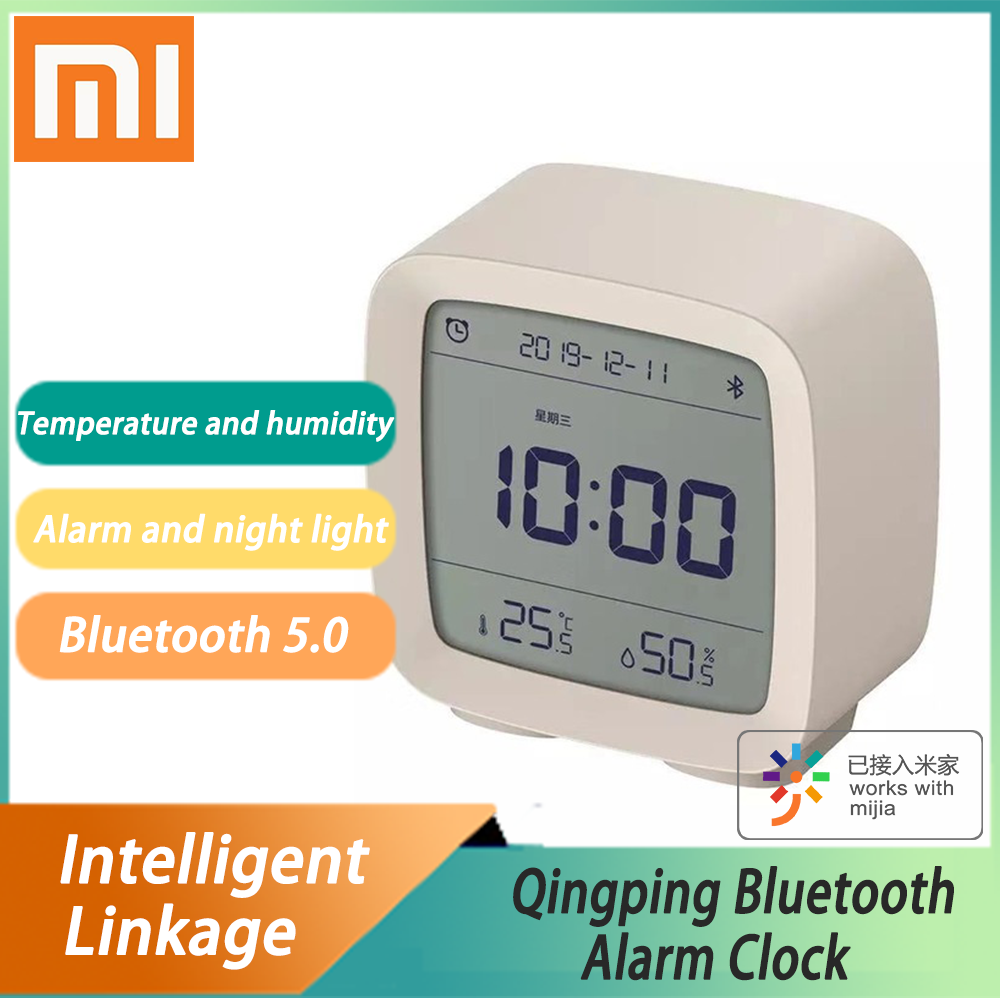 Xiaomi Cleargrass Bluetooth Alarm Clock Smart Control Temperature Humidity Display LCD Work With Mijia Adjustable Nightlight