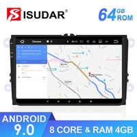 Lecteur multimédia de voiture Isudar GPS Android 9 pour VW/Golf/Tiguan/Skoda/Fabia/rapide/siège/Leon 8 cœurs RAM 4 go DSP Auto Radio 1 Din FM