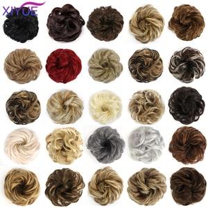 Искусственный пучок волос, синтетические женские волосы, шиньон, лента для волос для женщин, вьющиеся волосы, шиньон, Пончик, обертывание, ши...