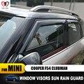 Новинка  высокое качество  защита от дождя  акриловый VENT козырек для бровей  только для 2016 MINI COOPER F55 Clubman F54  аксессуары для стайлинга автомоби...