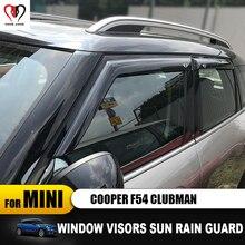 Yeni yüksek kaliteli Pencere Yağmur Koruma Akrilik VENT VISOR Kaş Sadece 2016 MINI COOPER için F55 Clubman F54 araba şekillendirici Aksesuar