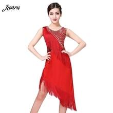 2019 New Women Latin Dance Dress Tassel Salsa/Ballroom/Rumba Competition Dresses Costume Lady Sequins Latin Dress Dancewear