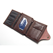 Men's Wallet Purse Genuine-Leather Card-Holder Male High-Quality Short for Coin Mini