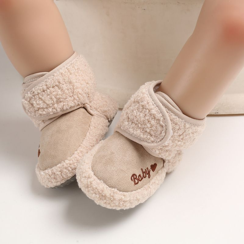 Baby Winter Warm First Walkers Cotton Baby Shoes Cute Infant Baby Boys Girls Shoes Soft Sole Indoor Shoes For 0-18M