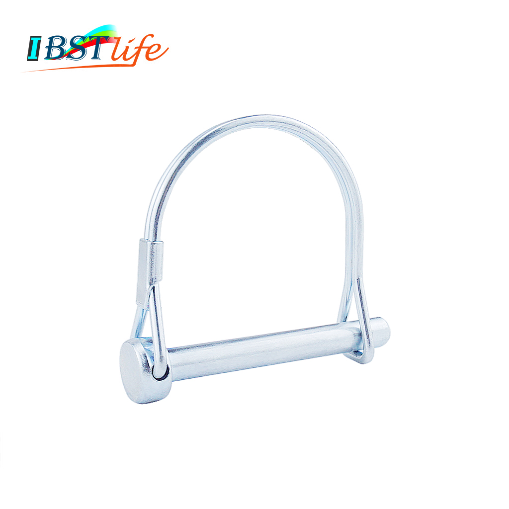 Spring Carbon Steel PTO Pin Round Arch Wire Shaft Locking Lock Pin Safety Coupler Pin Retainer Farm Trailers Wagons Lawn Garden