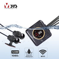 SYS VSYS registratore per videocamera per moto impermeabile Full Body P6FL WiFi Dual 1080P Full HD moto DVR Dash Cam scatola GPS nera