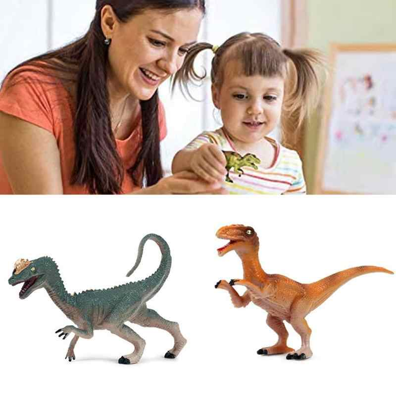 Kinderen Dier Speelgoed 3D Dinosaurus Model Speelgoed Plastic Gekroond Dragon Brachiosaurus Dubbele Archaeopteryx Home Simulatie Decor Q7B4