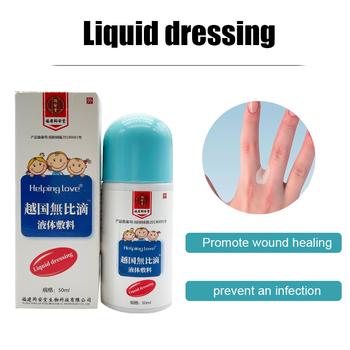 50ml płynny opatrunek przezroczysty wodoodporny bandaż dezynfekujący rany klej hemostatyczny gojący się żel płynny zespół pomocy tanie i dobre opinie CN (pochodzenie) band aid BODY liquid dressing