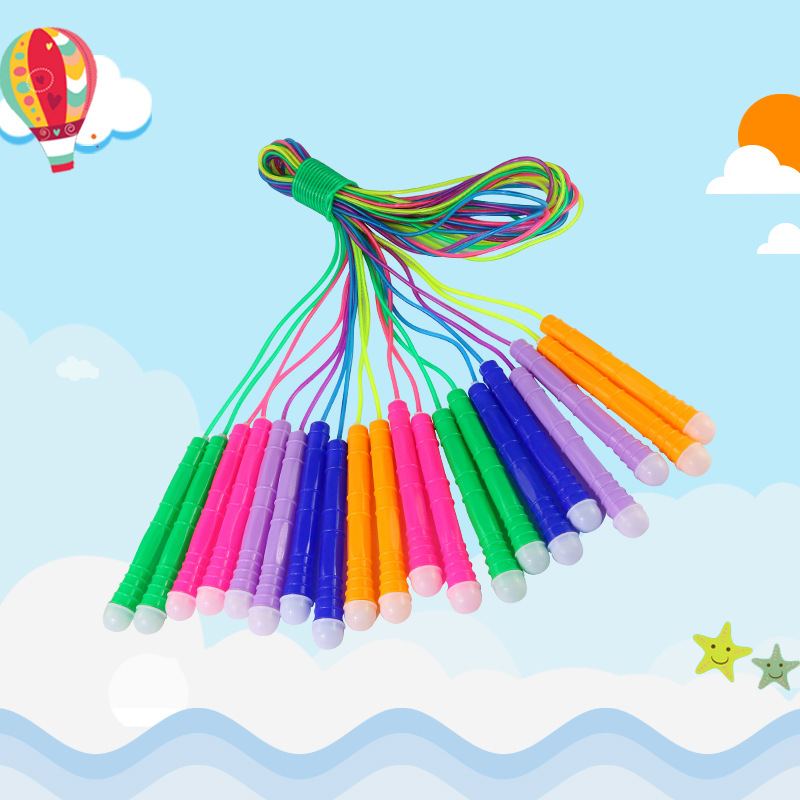 PVC Children Sports Jump Rope Cartoon Jump Rope Kindergarten Students Fitness Training Outdoor Sports Supplies