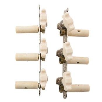 2X Classic Guitar String Tuning Pegs Tuners White Machine Heads Keys 1 Pair folk guitar string 3 machine head tuners silver pair