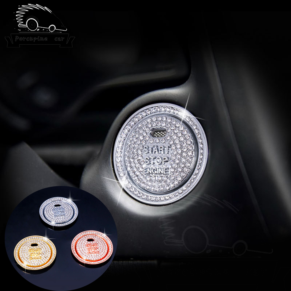 Diamond Car <font><b>Engine</b></font> Start Stop Button Decoration Keyless System Switch <font><b>Cover</b></font> For <font><b>Mazda</b></font> <font><b>3</b></font> 6 CX-4 CX-5 Axela ATENZA Car-styling image