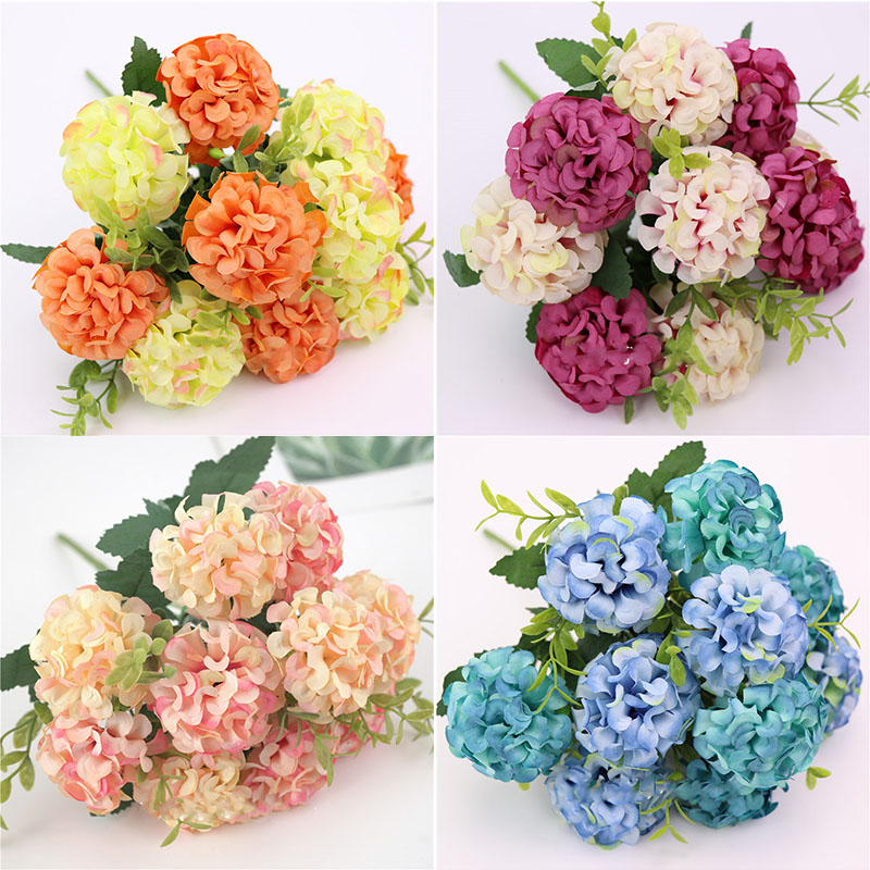 Best Offers For Sky Blue Silk Artificial Hydrangea Flowers Brands And Get Free Shipping A9