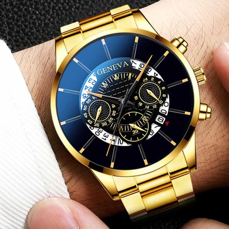 Blaus Masculino Fashion Pria Jam Tangan Stainless Steel Mewah Pria Bisnis Kalender Quartz Pria Jam Tangan Jam Montre Homme