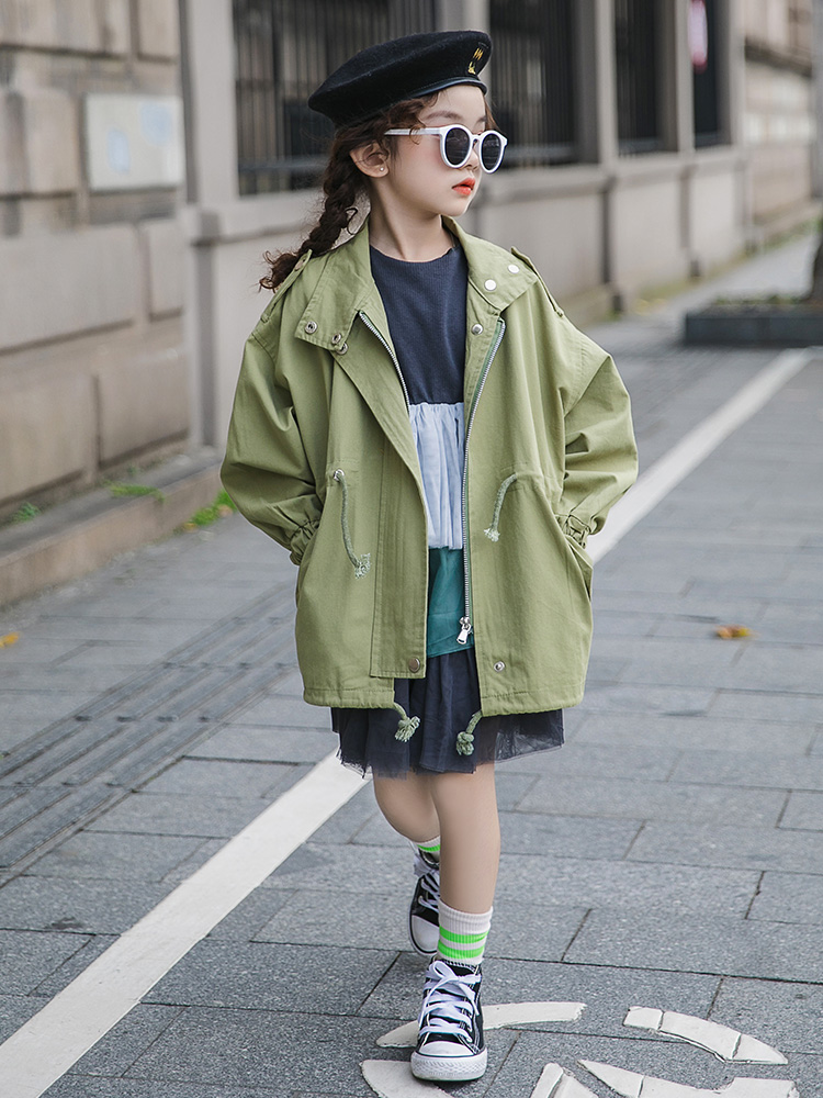 Bébé fille vêtements 2019 Trench Coat pour filles grands enfants décontracté à capuche manteau coupe-vent automne adolescent veste pour filles 9 10 12