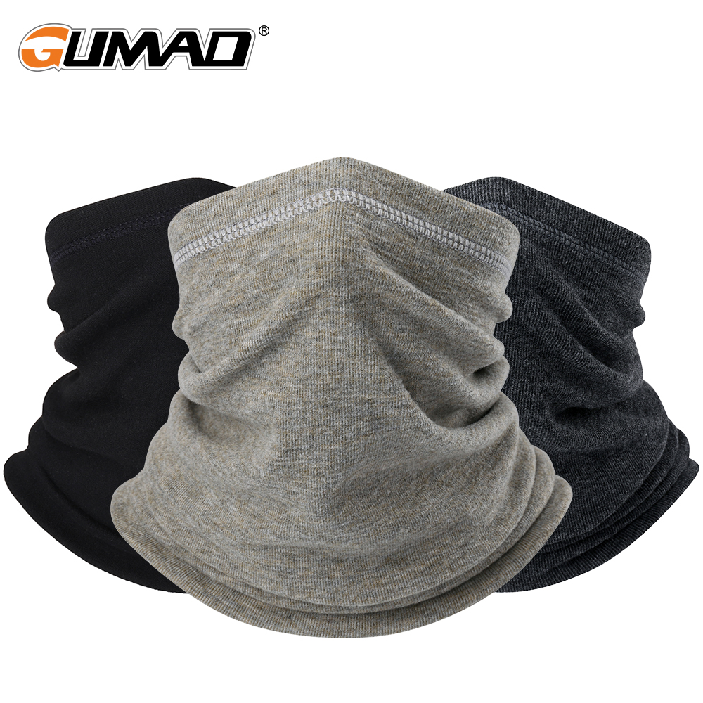 Winter Neck Warmer Bandana Tube Scarf Fleece Pipe Half Face Mask Sports Thermal Skiing Gaiter Hiking Cycling Snowboard Men Women