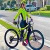 Xama ciclismo manga longa trisuit skinsuit feminino manga curta bicicleta wear macacão conjunto de roupas roadbike ciclo 16