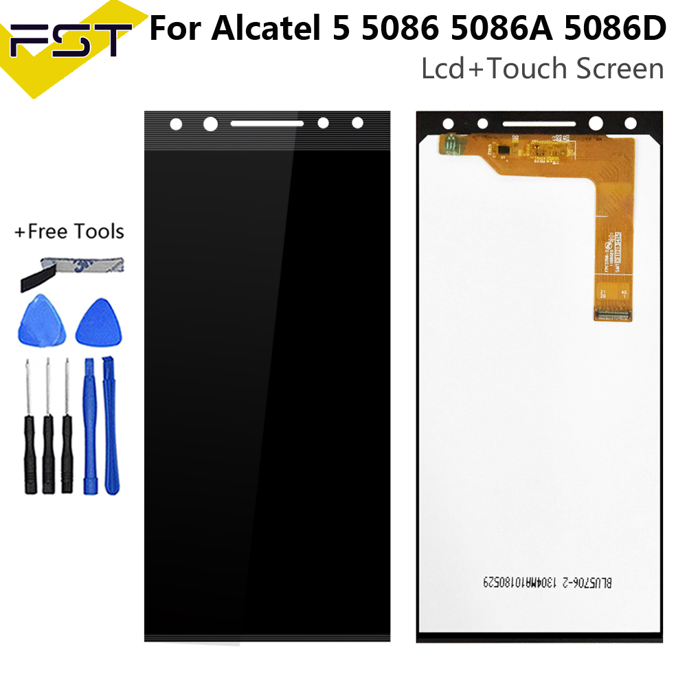 <font><b>5</b></font>.7'' New For <font><b>Alcatel</b></font> <font><b>5</b></font> 5086 5086A 5086D <font><b>5086Y</b></font> LCD DIsplay + Touch Screen Digitizer Assembly 100% Tested Spare Parts image