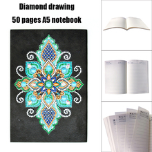 1Pcs DIY Mandala Diamond Painting Notebook 50 Pages A5 Sketchbook Notebook Diamond Embroidery Cross Stitch Diary Book стоимость