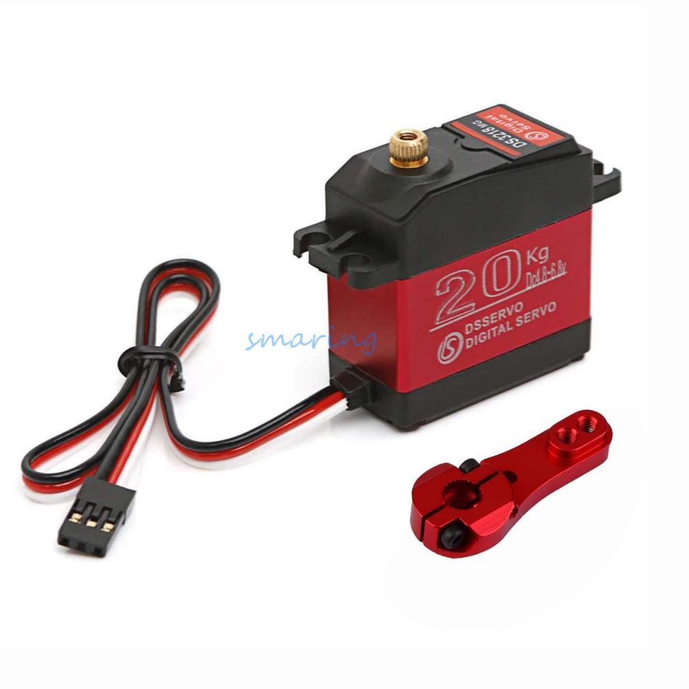 DS3218 Waterproof Update RC Servo 20KG 180/270 Degrees Full Mental Gear Digital Robot Servo For Cars RC Toys