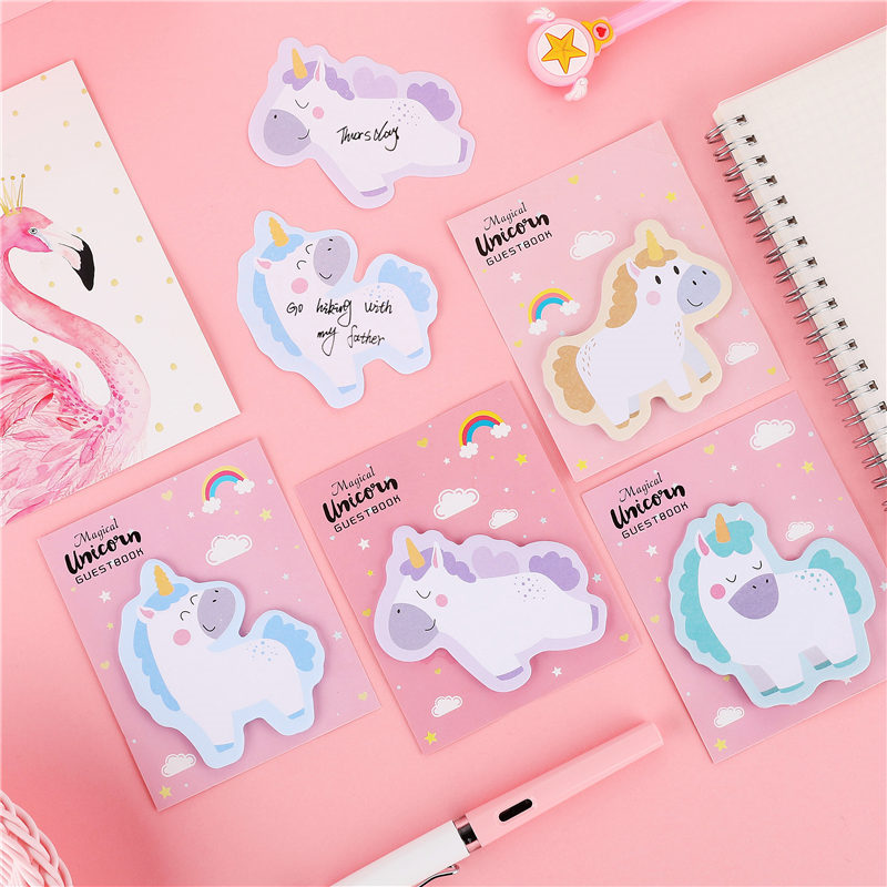 Cute Cartoon Notepad Creative Memo Pad Kawaii Sticky Notes Planner Scrapbooking Stickers Gift Office Decoration Supplies 02124