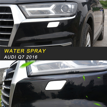 Headlight Water Spray Protector Cover Trim Frame Sticker Exterior Accessories for Audi Q7 4M 2016 2017 2018 Car Styling
