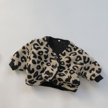 Kids Coats Jacket Winter Clothes Printing Plush Toddler Baby-Girl Fashion Thick Leopard
