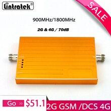 Oro AGC función 2g GSM 900 1800 repetidor GSM 900Mhz, DCS 1800MHz celular amplificador de señal de teléfono 70dB ganancia amplificador de señal móvil