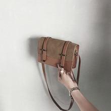 Fashion Women Scrub Crossbody Bag Coin Mini section Wild Phone Shoulder