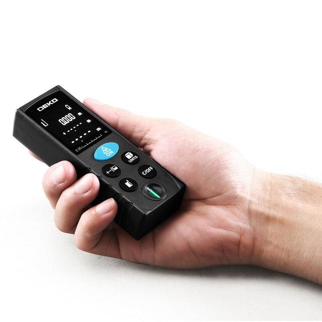 DEKO LRD110 Handheld Laser Distance Meter 40M 60M 80M 100M Mini Laser Rangefinder Laser Tape Range Finder Diastimeter Measure 3