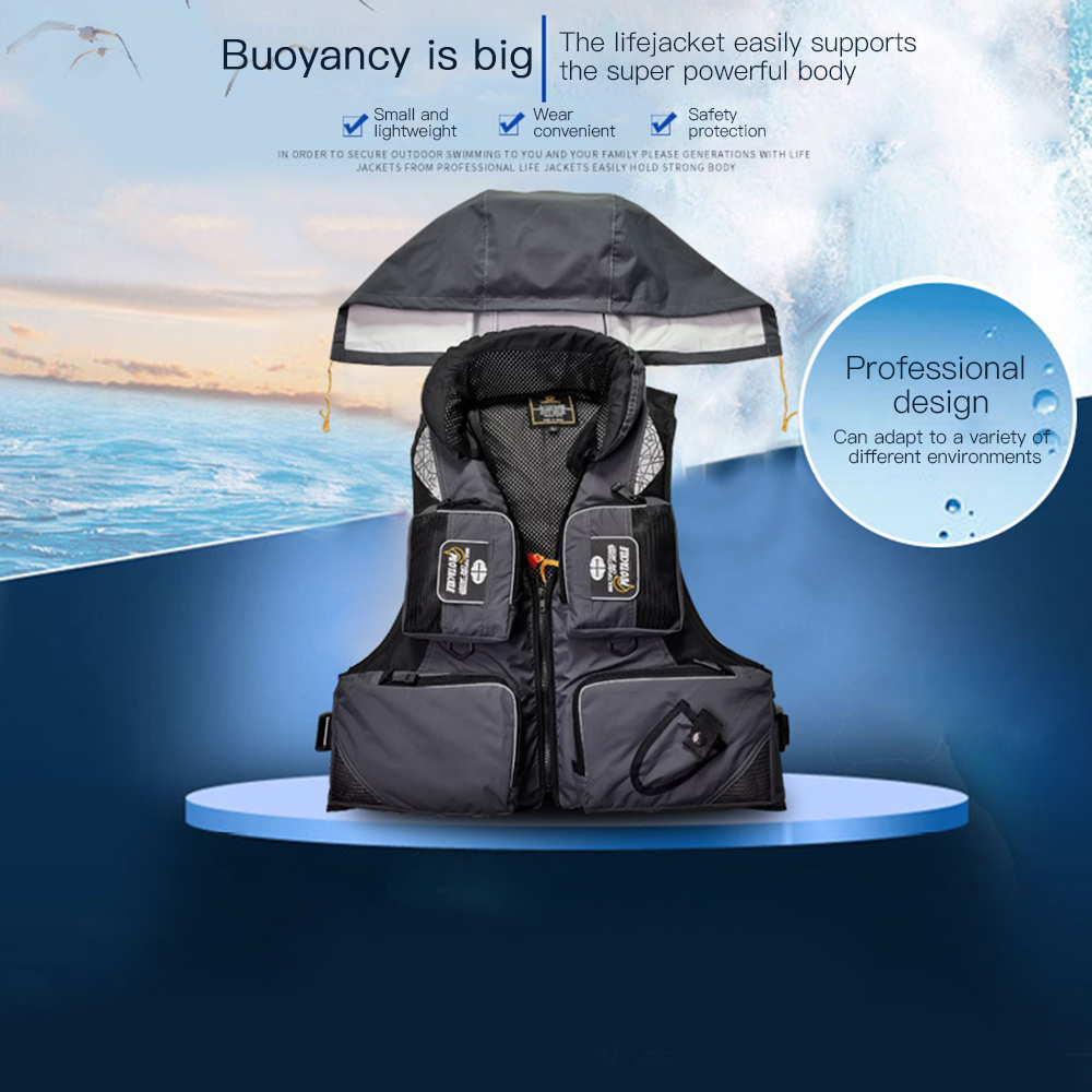 Multi-purpose Sea Fishing Polyester Adult Water Safety Life Jacket Survival Vest Swim Boating Drifting