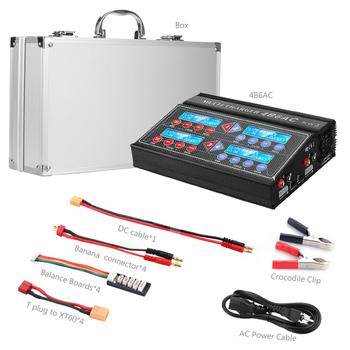 HTRC Professional RC Battery Balance Charger 4B6AC Quattro B6AC 6A 80W*4 Discharger For 1-6s LiPo/Lion/LiFe Battery Charger