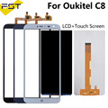 100% testé pour Oukitel C8 écran LCD + écran tactile numériseur pièces de réparation + outils + panneau de verre LCD adhésif pour C8
