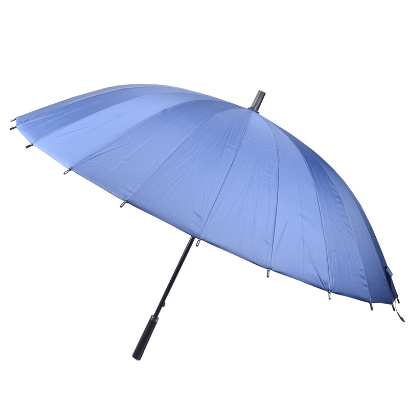 Straight Umbrella Wholesale 24 Bone Extra-large Umbrella Surface Straight Handle Umbrella Straight Handle Men Business Umbrella