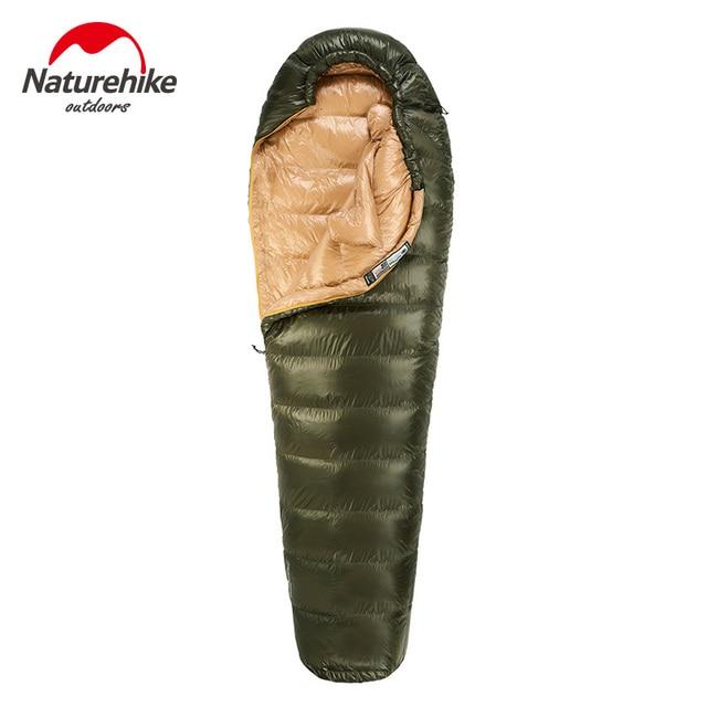 Naturehike 屋外で暖かい寝袋超軽量ミイラタイプ冬の屋外ハイキング保温防水寝袋