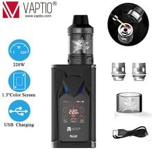Original VAPTIO SUPER BAT 220W Vape kit electronic cigarette 220W Box MOD 2.0/5.0ml tank 510 thread Vape Mod fit 510tread tank цены