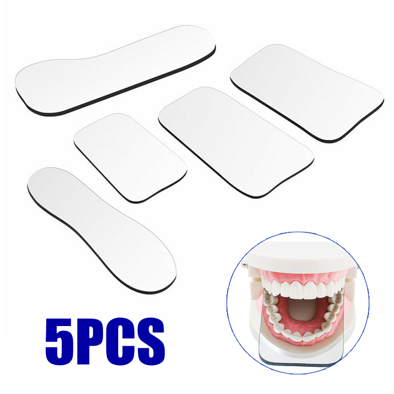 5pcs/set Dental Double Side Orthodontic Reflector Intra-oral Photography Mirrors Reflector For Orthodontic Taking Photo