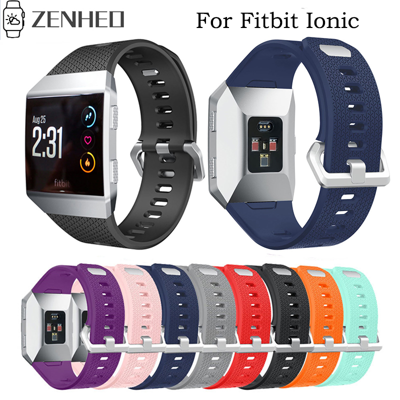 Watchband For Fitbit Ionic Sports Silicone Bracelet Replacement Wrist Strap For Fitbit Ionic Watchband Wrist Bands