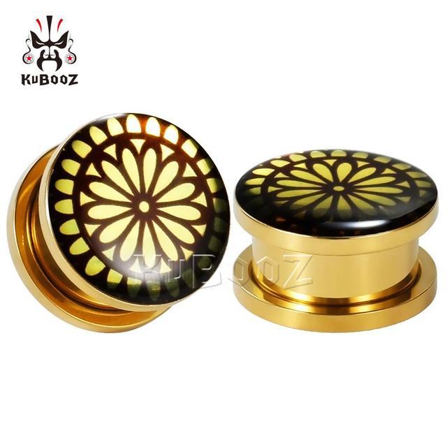 Купить серьги для пирсинга ушей tuxture бронзовые серьги расширители