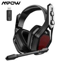 Mpow Eisen Pro Wireless Gaming Headset Verdrahtete Kopfhörer für PS4/PC/Xbox One/Schalter/Telefon mit surround Sound & 20H Batterie Lebensdauer