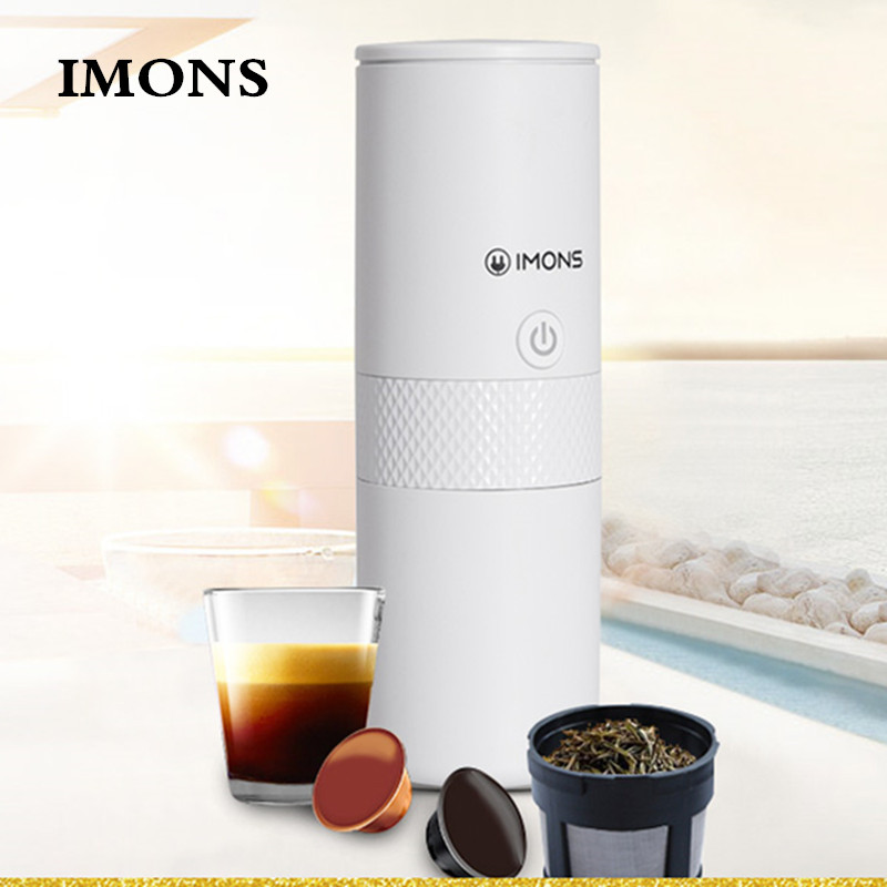 Portable coffee machine electric American capsule coffee machine tea machine outdoor travel home hot and cold water coffee cup|Capsule Coffee Machine| |  -