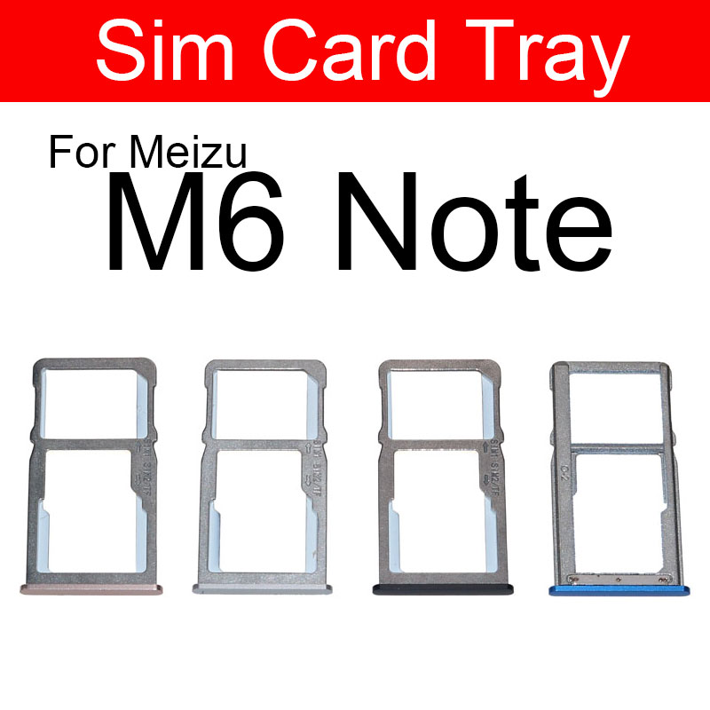 Sim Card Slot Tray Holder For <font><b>Meizu</b></font> Meilan Blue Charm <font><b>M6</b></font> <font><b>Note</b></font> M6Note <font><b>M721l</b></font> Sim SD Memory Card Adapter Replacement Repair Parts image