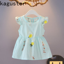 2019 Summer Cotton baby girls dresses Cartoon Pineapple Princess Costume Children Dress Kids Dresses for Girl Cute Girl Clothing недорого